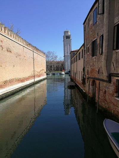 Venice, Italy Water Nature City Canal No People Clear Sky Tower View Church Reflection Building Waterfront Sky Architecture EyeEmNewHere EyeEm Best Shots