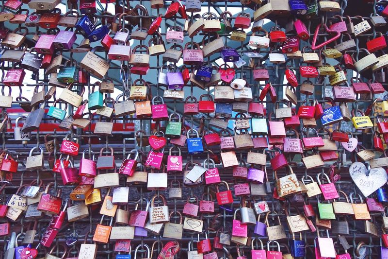 Love locks on cologne bridge Love ♥ Love Lovelocks Cologne
