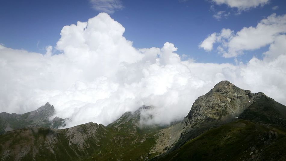 Queyras Alps Clouds And Sky Clouds Cloudsporn Clouds & Sky Mountains And Sky Mountains Beautiful Nature Eyem Nature Lovers  Nature_collection Mountainscape Mountain Scape Mountain View Mountain Hiking