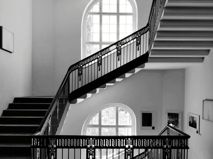 View of spiral staircase in building
