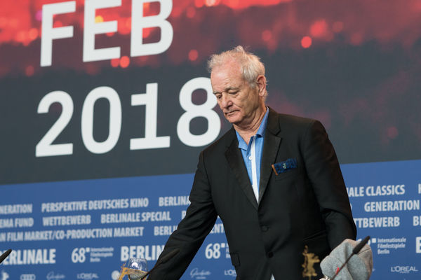 Berlin, Germany - February 24, 2018: Bill Murray, accepting the award for Wes Anderson (winner of the Silver Bear for Best Director for 'Isle of Dogs'), at the Berlinale Award Winners press conference AWARD Artist Berlin Best Director Event Film Festival Press The Media Winning Arts Culture And Entertainment Berlinale Berlinale 2018 Berlinale2018 Berlinale68 Bill Murray Entertainment Entertainment Event Film Industry Mass Media One Person People Press Conference Senior Adult Silver Bear Winner