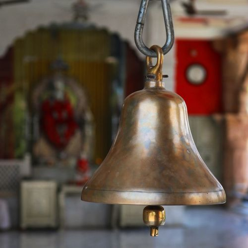 Close-Up Of Bell At Temple