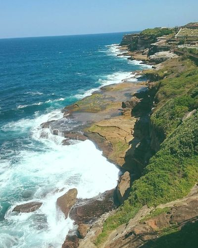 From coast to coast Coastline Outdoors Sky Ocean Cliffs Nature Sea Day