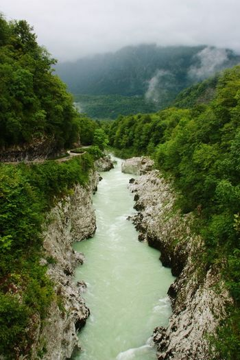 Sky Outdoors Scenics Beauty In Nature Nature Tranquil Scene Water Rivers Wild River Slovenian Alps Slovenia Mountain View Wild Nature Lost In The Landscape