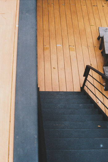 Film Portra 400 Film Portra 400 Absence Architecture Brown Chair Day Empty Flooring Hardwood Floor High Angle View Home Interior Indoors  No People Pattern Railing Seat Staircase Steps And Staircases The Way Forward Wood Wood - Material EyeEmNewHere