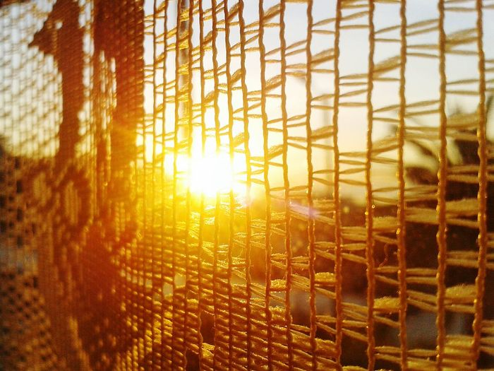 Sunrise Through The Window and Through The Curtain Alba Tendina Finestra Day Close-up Net Pattern Smartphone Photography Android Photography S3 Mini Sunlight Indoors