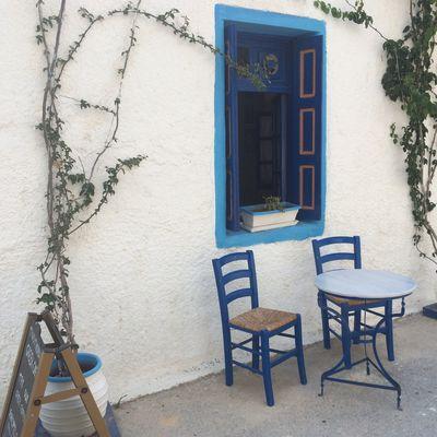 It's all very Greek 🇬🇷 🌞 Kardámaina Kardamena Greek Islands Table Chair Summertime Wishiwasthere