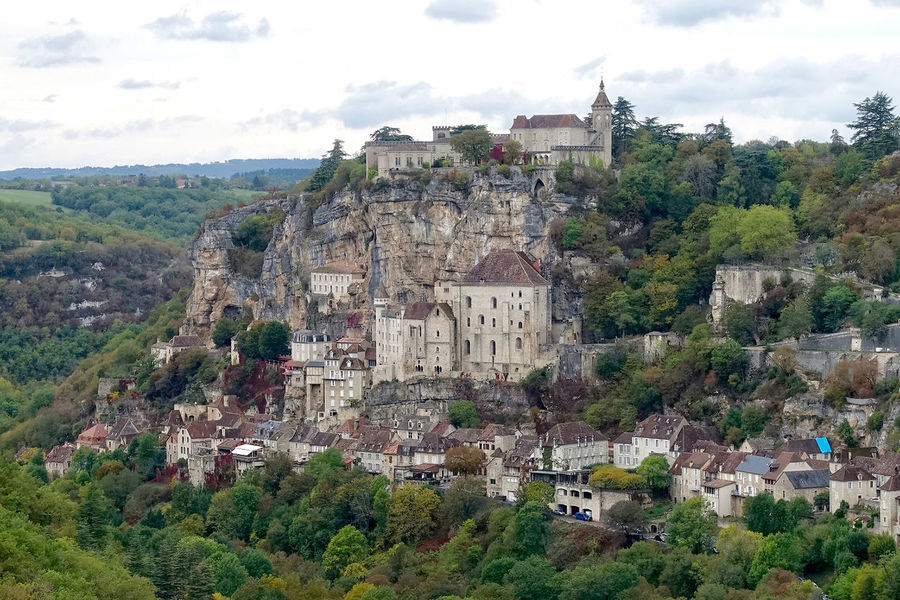 The city of Rocamadour in France. Architecture Building Exterior Built Structure Day France History Medieval Nature No People Outdoors Rocamadour Sky Town Tree