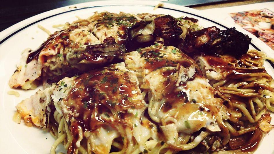 Okonomiyaki Hiroshima style. Japanese Food Japan Culture Food Porn Hiroshima