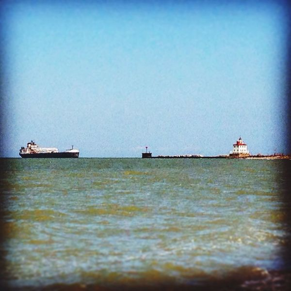 Cargo Ship Ashtabula County Ohio Lighthouse