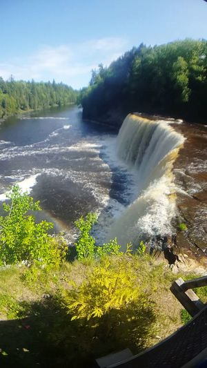 Tahquamenon Tahqamenon Falls Tahqamenon Falls State Park Up Up Upper Peninsula Waterfalls Waterfall Michigan Rainbow Nature Water Colour Of Life