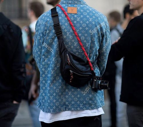 Louis Vuitton Supreme Focus On Foreground Rear View Men Day Real People Women Close-up Adult Outdoors People Adults Only