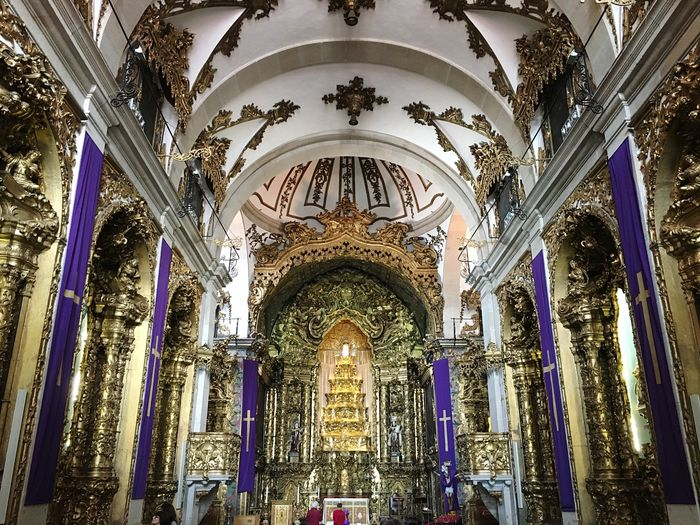 Religion Place Of Worship Low Angle View Spirituality Architecture No People Travel Destinations Indoors  Day Church Oporto Portugal Frainf