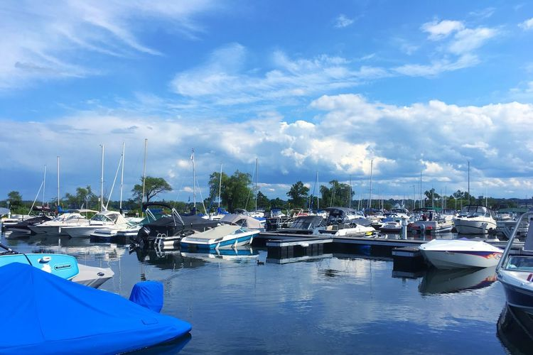 Nautical Vessel Moored Water Sky No People Transportation Cloud - Sky Blue Outdoors Day Nature Sea Harbor