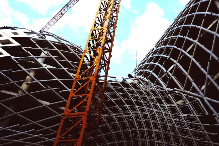 Architecture Modern Industry Sky Architecture Girder Construction Frame Construction Site Construction Crane Crane - Construction Machinery Incomplete Scaffolding