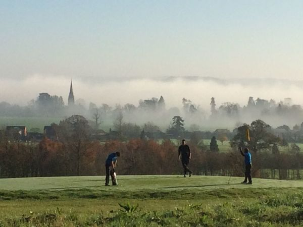 Fog Golf Outdoors Relaxing Sport