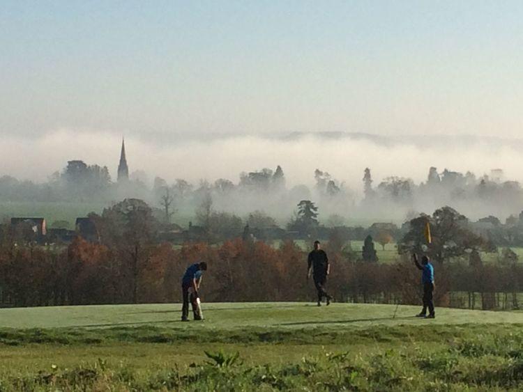 Fog Golf Outdoors Relaxing Sport