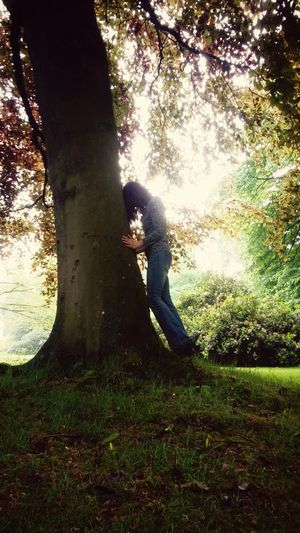 One Person Day Tree Outdoors Nature Grass Low Section One Woman Only Life Moments Thinkfull