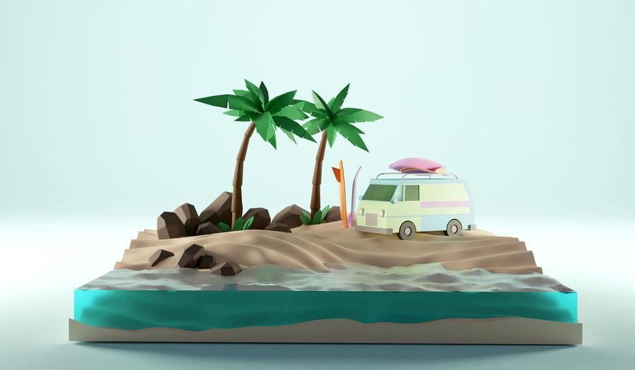 Digital composite image of cake against white background