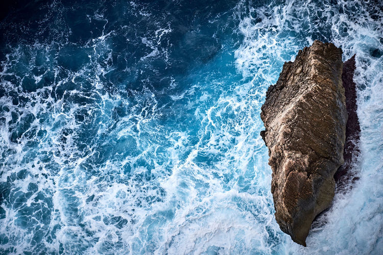Rough Shore on Mallorca Airial View Beauty In Nature Blue Day Motion Nature No People Ocean Outdoors Power In Nature Rock - Object Rough Scenics Sea Shore Sky Water Wave Be. Ready. EyeEmNewHere