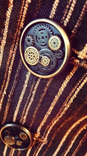 buttons of steampunk vest. Tornhemstudio Steampunk Buttons Gears