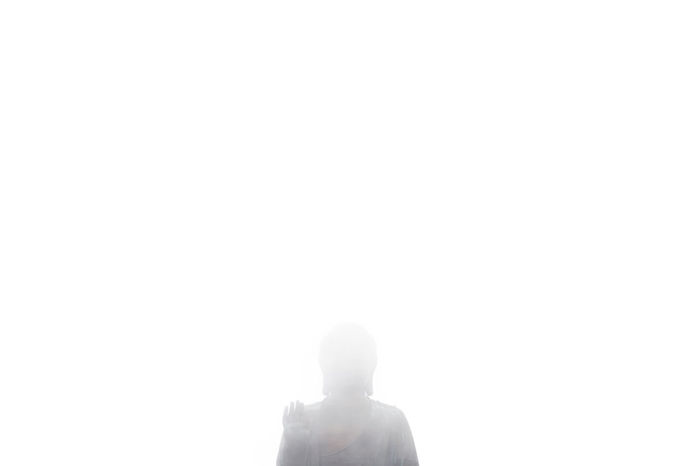 Buddha in the mist. Buddha Budhha Statue Clear Sky Cultures Hong Kong I Love Hong Kong Religion Single Object Spirituality White pmg_hok Fine Art Photography An Eye For Travel