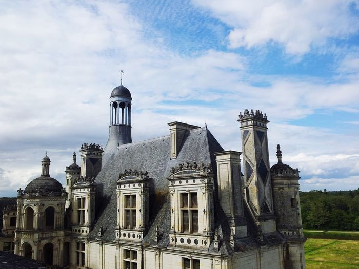 Architecture Built Structure Dome Building Exterior Outdoors No People Day Sky History Travel Destinations Chateau De Chambord Chambord Castle Chambord Castle Architecture