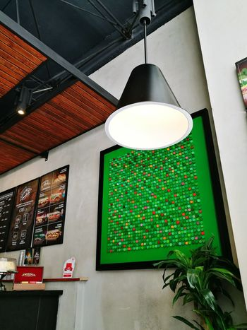 Indoors  Coffee Shop Breakfast Time Modern Tranquility Green Geometric Shape No People Day The Street Photographer - 2017 EyeEm Awards
