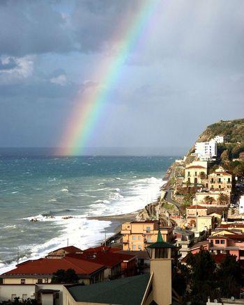Siciliabedda Gioiosamarea Piraino Spettacolodellanatura Water Wave Sea Multi Colored Beach City Rainbow