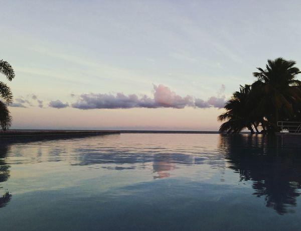 Infinity Pool Puerto Rico Sunset