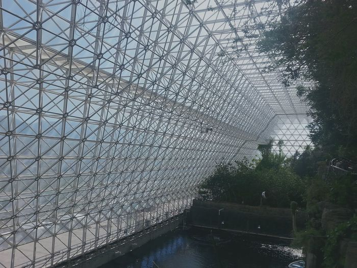 Architecture Details Triangles Glass Dome