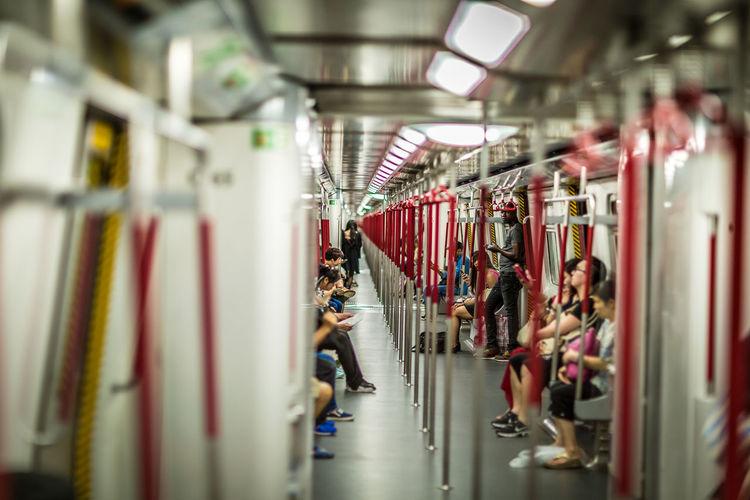 People in metro train