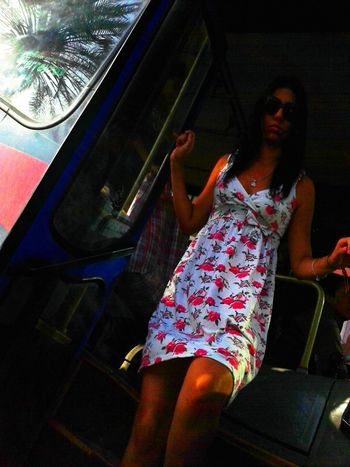 Streetphotography Girl Public Transportation Miraflores
