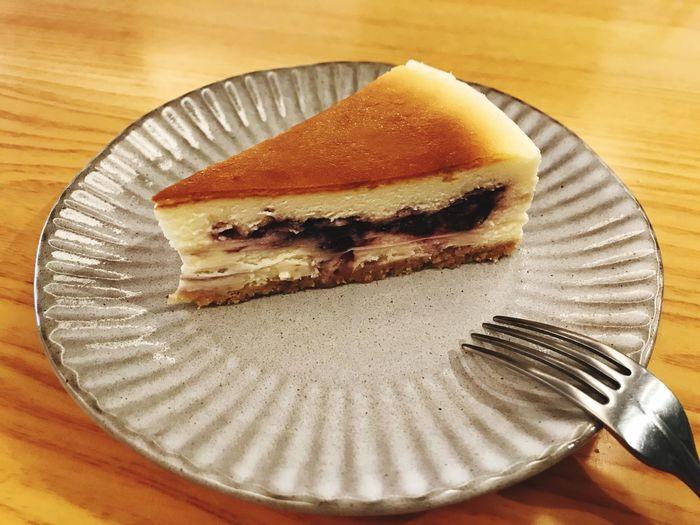 Blueberry cheesecake Cofeeshop 小腕點心 Cake Cake Cake Cake  Plate Food Food And Drink Sweet Food Sweet Dessert Fork