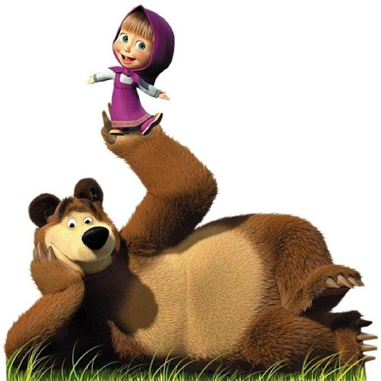 My daughter's new addiction after Peppa Pig. Masha and the Bear Mm Monella