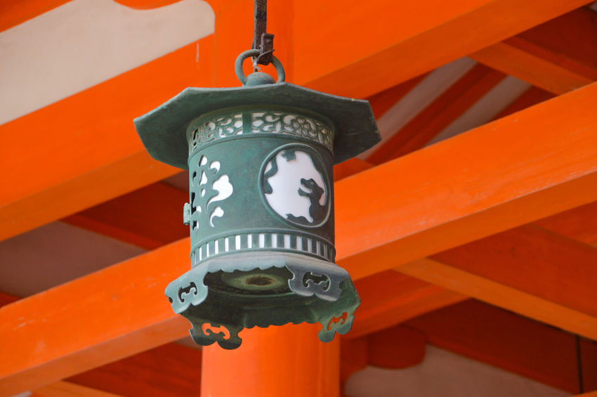 Heian Shrine Latern At Kyoto Japan HEIAN Heian Shrine Japan Japanese  Shrine Close-up Heian Jingu Kyoto Orange Color Red Religion Shinto Shintoism