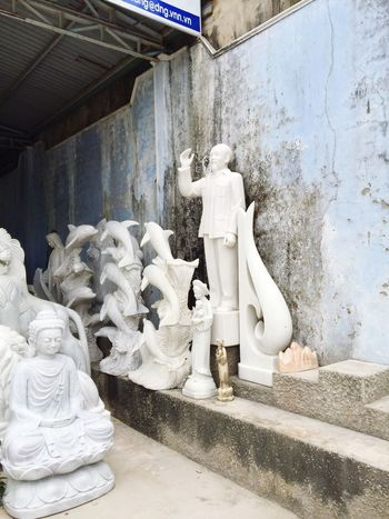 Vietnam Marble Buddha Dolphin Politics Politician Sculptures Workshop Storage Hall