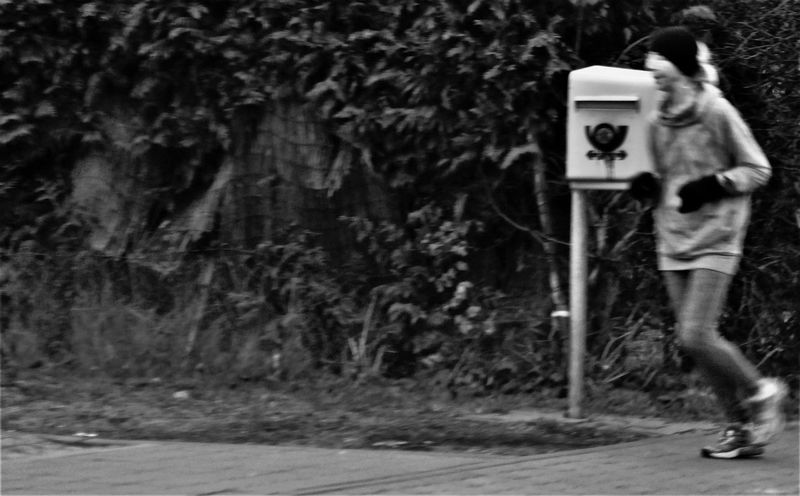 To Run Free Run One Person Real People Outdoors Day Moment Mailbox Move Blackandwhite Photography