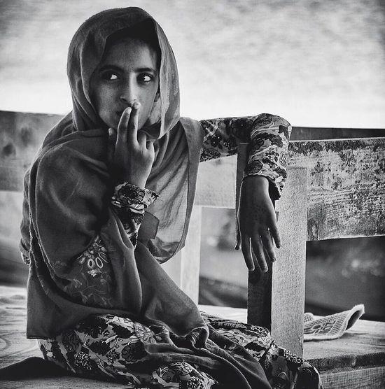Blackandwhite Iran Gheshm Island Girl Documentary Real People Portrait