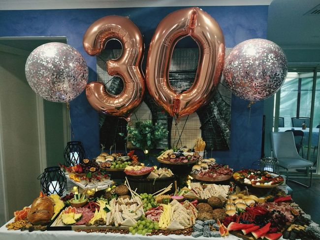 30th birthday catering Birthdayparty Fingerfood 30thBirthday Celebration Catering Birthdayballoon Catering Sweet Food First Eyeem Photo EyeEmNewHere