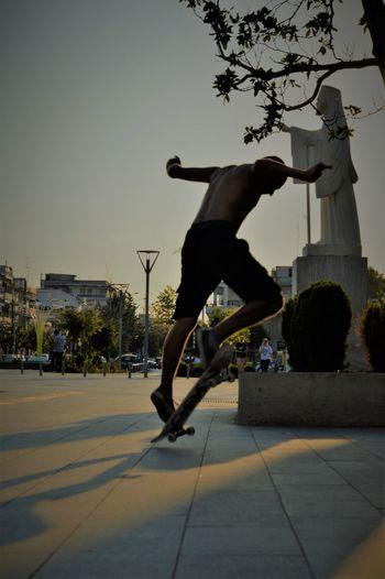 Skateboarding Agility Balance Exercising Healthy Lifestyle Jumping Leisure Activity Lifestyles Motion Outdoors Performance Real People Skateboard Park Skater Skill  Sport Stunt Vitality