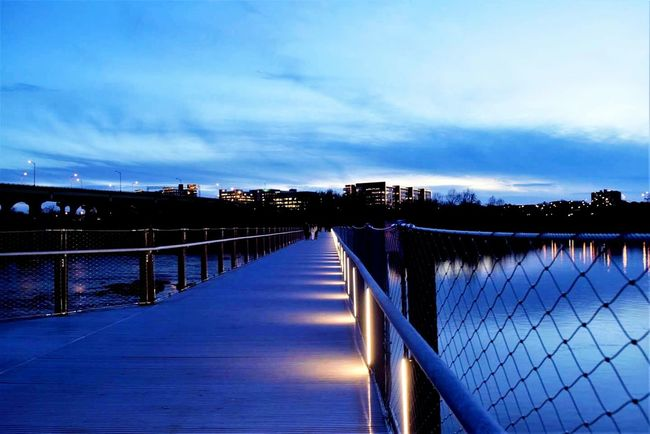 Water Outdoors Travel Destinations City Vacations Nature Bridge - Man Made Structure Snow Beauty In Nature No People Night Sky Nikon D3300 Nature Photography Nature Richmond, VA Reflection Monday Blues
