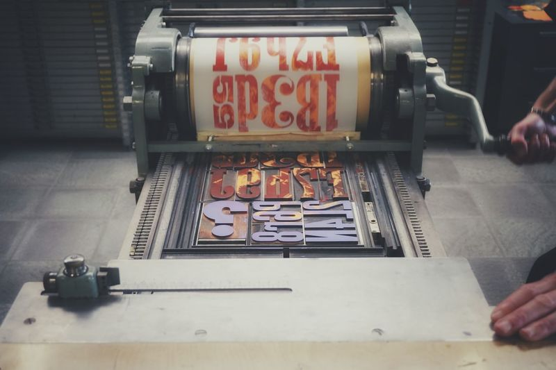 Turn, turn and print   Old Job  Envision The Future Letterpress Printing Getting Inspired Print Close-up Colors Ink Wood Type Hands At Work Papers Tipoteca Italiana EyeEm Italy  