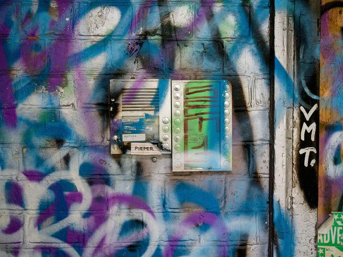 Digital composite image of graffiti on wall