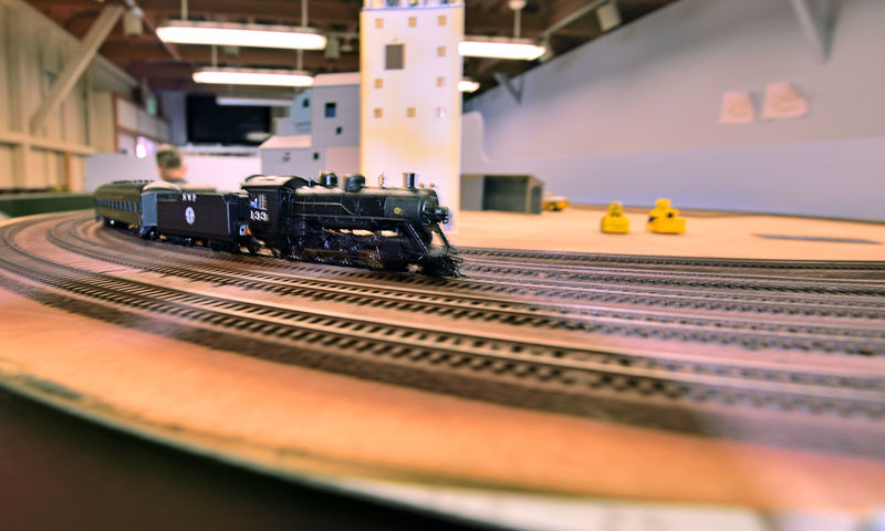 Model Trains 7 The Niles Depot Museum Model Railroads HO-scale Hobby Railroad Heritage Rail Transport Steam Locomotive In Motion Coal Car Passenger Cars Railroad Tracks Tilt-shift Trains The Tri-City Society Of Model Engineers Technology Equipment Niles Depot Historical Foundation Non-profit Railroad_Photography Train_Photography Close-up Architecture