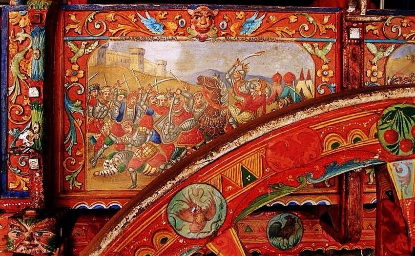 Sicilian wheel barrow! EE_Daily: Orange Tuesday Popular Art Eye4photography  Eye4enchanting