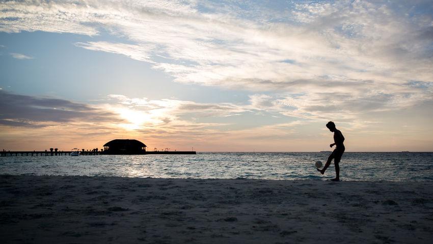 Beach Football Life On The Beach Sea Sky Soccer Sport Beach