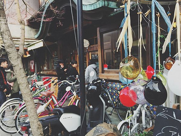 Bicycle Retail  Stationary Market Stall Outdoors Men Real People Occupation Day Adults Only Bicycle Shop One Person Adult People Kyoto Close-up