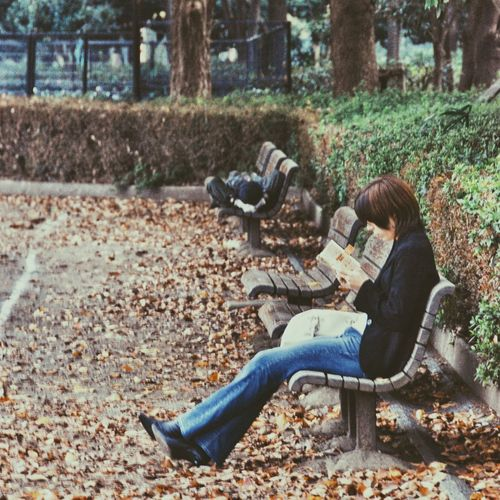 Man sitting in park