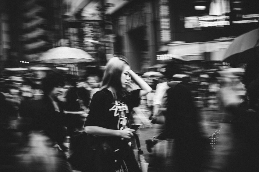 Tokyo Japan Streetphotography Bnw Walking Blurred Motion Blackandwhite